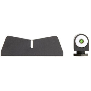 XS Sight Systems DXW Big Dot Night Sights for GLOCK 17/19/22/23 Green Tritium Front/Solid White Rear Matte Black