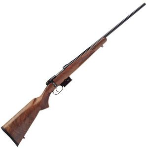 "CZ 527 American Bolt Action Rifle .22 Hornet 21.875"" Barrel 5 Round Detachable Magazine No Sights Integrated 16mm Scope Base American Style Turkish Walnut Stock"