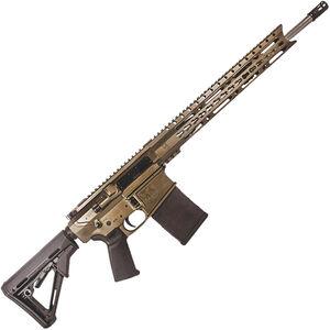 "Diamondback DB10ELBB Semi Auto Rifle .308 Winchester 18"" Stainless Steel Fluted Barrel 20 Rounds 15"" KeyMod Hand Guard Collapsible Stock Matte Burnt Bronze"