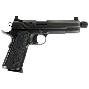 """Dan Wesson Wraith .45 ACP 1911 Semi Auto Pistol 5.75"""" Threaded Barrel 8 Rounds Full Size Governement Profile G10 Grips Distressed Duty Finish"""