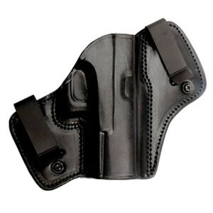 Tagua Gunleather DCH Dual Clip IWB Holster For GLOCK 19, 23, 32 Right Hand Leather Black DCH-310