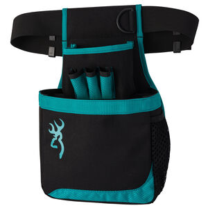 Browning Flash Shell Pouch with Belt Black and Teal Trim