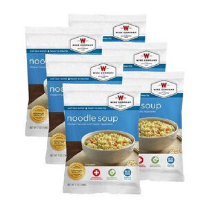 Wise Company Freeze Dried Food Pouch Chicken Noodle Soup 4 Serving Pouch