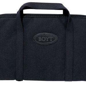 "Boyt Harness Rectangular Rug Handgun Case Black Canvas 16x10"""