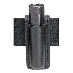 "Safariland Model 306 Open Top Mini-Flashlight Holder Fits 1.25"" X 5.8125"" Flashlights Synthetic Leather Basket Weave Black"