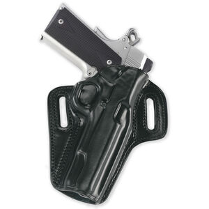"""Galco Concealable 1911 4"""" Belt Holster Leather Left Hand Black CON267B"""