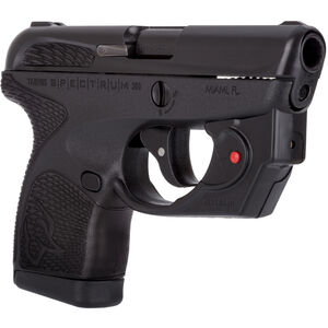 "Taurus Spectrum .380 ACP Semi Auto Pistol 2.8"" Barrel 6 Rounds with Viridian Laser Black Polymer Frame with Black Inserts Black Finish"