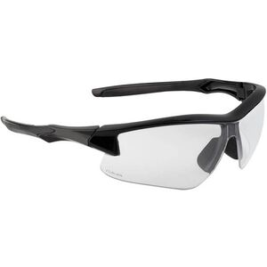 Acadia Shooter's Safety Glasses Clear Lens with Uvextreme and Anti-Fog Coating Black Polymer Frame Comfort Molded Temple