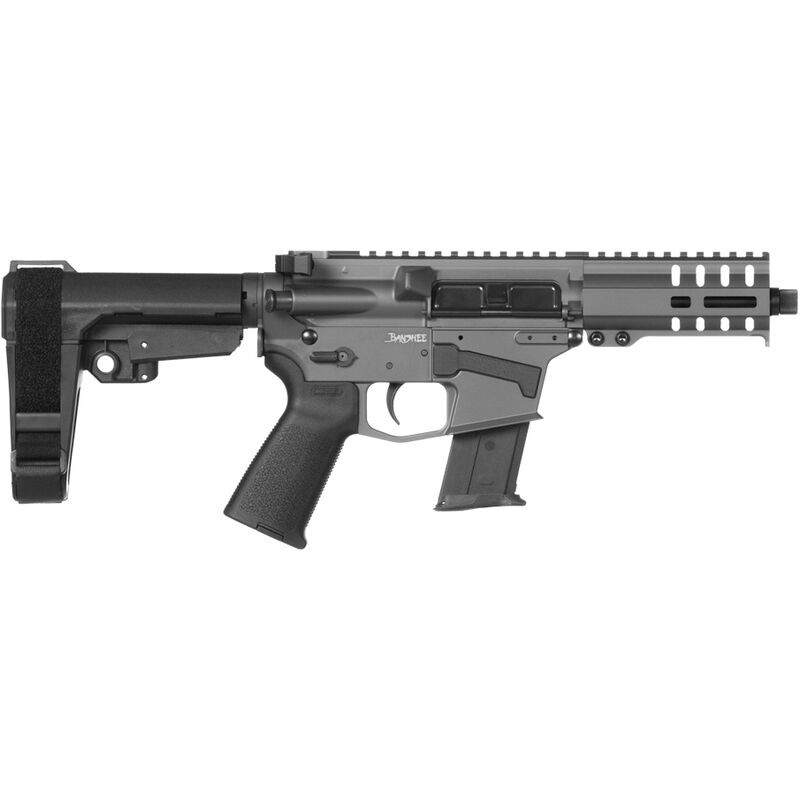 "CMMG Banshee 300 Mk57 5.7x28mm AR-15 Semi Auto Pistol 5"" Barrel 20 Rounds RML4 M-LOK Handguard CMMG Micro/CQB RipBrace Sniper Grey Finish"