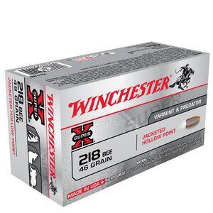 Winchester Super X.218 Bee Ammunition 50 Rounds, JHP, 46 Grains