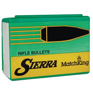 """Sierra MatchKing Bullet .338 Caliber .338"""" Diameter 300 Grain Hollow Point Boat Tail Projectile 500 Count"""
