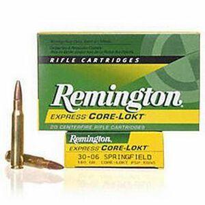 Remington Express .30-06 Springfield Ammunition 20 Rounds 180 Grain Core-Lokt PSP Soft Point Projectile 2700fps