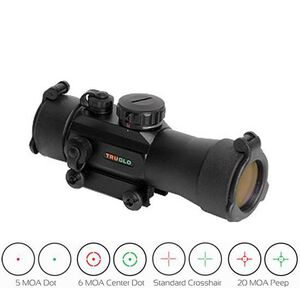 TRUGLO Xtreme 2x42 Red Dot Sight Multi-Dot Red/Green Reticle Black TG8030MB2