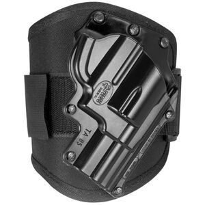 Fobus Ankle Holster Rossi/Taurus Revolvers Right Hand Draw Polymer Shell/Cordura Pad with Velcro Strap Matte Black Finish