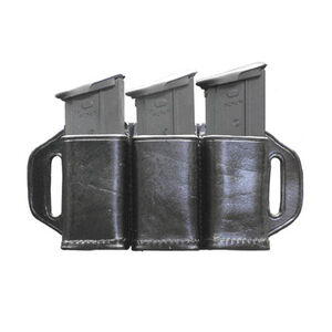 Stallion Leather Triple Magazine Holder for Double Stack .45 / FN 5.7 Black