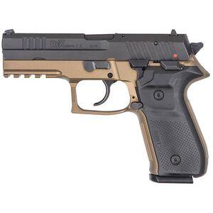 "FIME Group Rex Zero 1S Semi Auto Pistol 9mm Luger 4.3"" Barrel 17 Rounds Metal Frame FDE/Black"