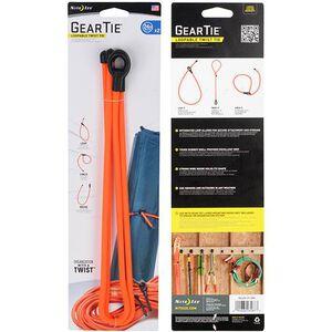 """Gear Tie Loopable Twist Tie 24"""" Bright Orange, 2 Pack"""