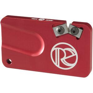 Redi-Edge Pocket Knife Sharpener Right Handed Duromite Blades Red Anodized Aluminum Body