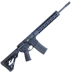 "HM Defense Defender M5 5.56 NATO AR-15 Semi Auto Rifle 16"" Barrel 30 Rounds Free Float M-LOK Hand Guard Collapsible Stock Matte Black"