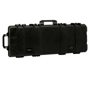 "Boyt H52SG Single Long Gun Case 53.5""x14""x5"" Water Resistant O-Ring Full Length Gasket High Density Egg Crate Foam Injection Molded Hard Case Matte Black Finish"