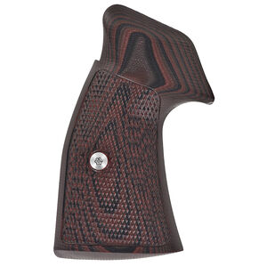 VZ Grips Tactical Diamond Grip Set For Smith&Wesson K/L Frame Square Butt G-10 Black Cherry