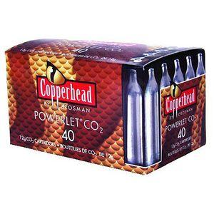 Crosman Powerlet CO2 Cartridges Copperhead 12 Grams 40 Count 23140