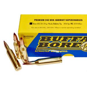 Buffalo Bore .243 Winchester Ammunition 20 Rounds NBT 70 Grains
