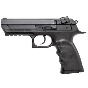 "Magnum Research Baby Desert Eagle III Full Size Semi Auto Pistol 9mm Luger 4.43"" Barrel 15 Rounds Combat 3 Dot Fixed Sights Polymer Frame Matte Black Finish"
