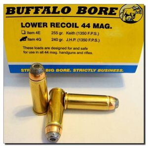 Buffalo Bore Lower Recoil .44 Remington Magnum Ammunition 20 Rounds JHP 240 Grain 4G/20