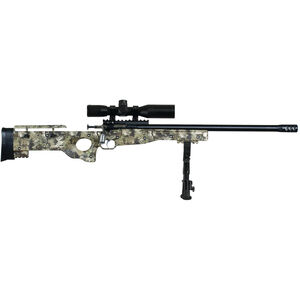 "Keystone Crickett CPR Package .22 LR Single Shot Bolt Action Rimfire Rifle 16.125"" Threaded Barrel with Bipod and Scope Kryptec Camo Adjustable Synthetic Thumbhole Stock Blued Barrel"