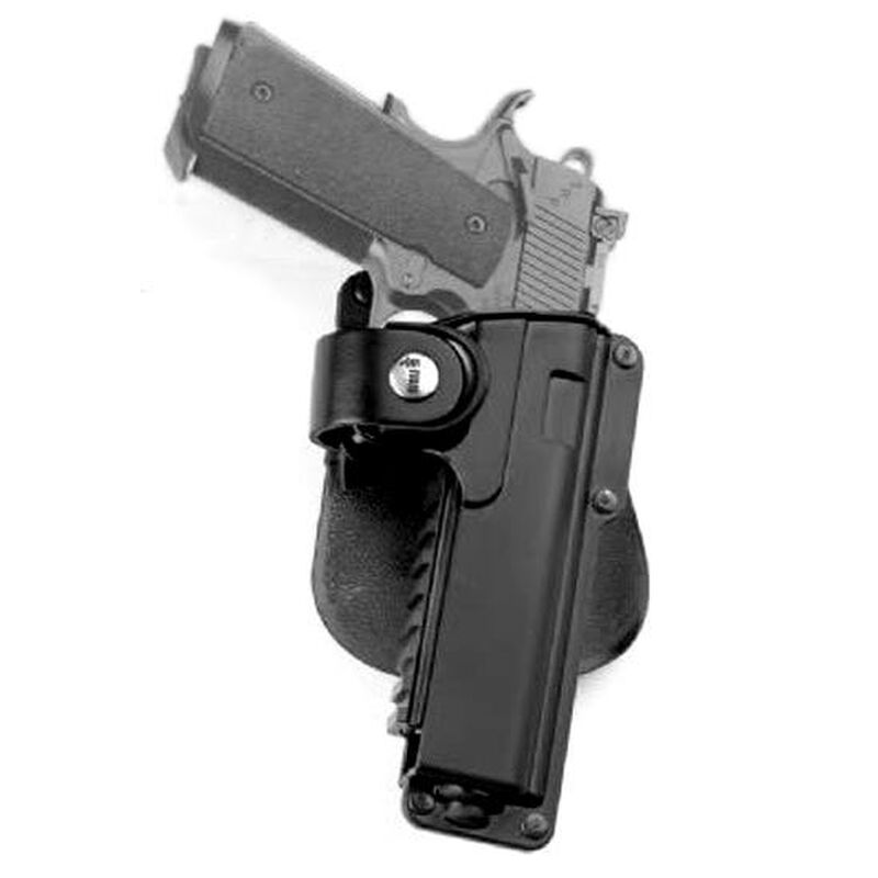 """Fobus Tactical Holster 5"""" Government 1911 Right Hand Roto-Paddle Attachment Polymer Black"""