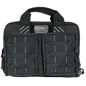 G. Outdoors G.P.S. Tactical Quad +2 Pistol Case Nylon Black GPS-T1311PCB