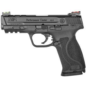 "S&W M&P9 M2.0 Performance Center 9mm Semi Auto Handgun 4.25"" Barrel 17 Rounds Ported Barrel and Slide C.O.R.E Optics Mounting Kit  Fiber Optic Sights Black"