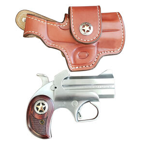 """Bond Arms Rustic Defender .45 LC/.410 Bore Break Action Derringer 3"""" Barrel 2 Rounds Rosewood Grips Brushed Stainless Steel Finish"""