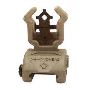 Diamondhead AR-15 Rear Flip-Up Sight NiteBrite Polymer Dark Earth 1401
