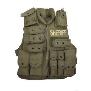 Voodoo Sheriff Vest Olive Drab Green 20-8403004