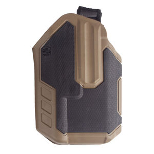 BLACKHAWK! Omnivore Multi Fit Holster for Most Handguns with TLR 1 or 2 Light Level 2 Retention Left Hand Polymer Black and Tan