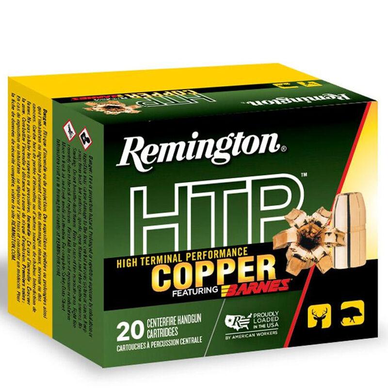 Remington HTP Copper .41 Rem Mag Ammunition 20 Rounds 180 Grain Barnes XPB All Copper Bullet 1520 fps