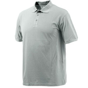 Beretta Special Purchase Men's Polo Short Sleeve Large Cotton Ash and Silver