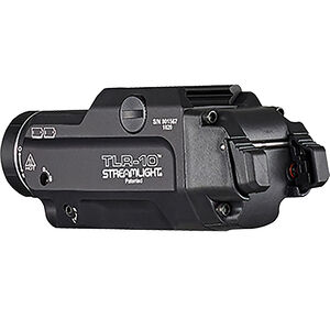 Streamlight TLR-10 Weapon Light with Laser Handgun 1000 Lumens White LED Red Laser Flex Weapon Light with Laser Aluminum 200 Meters Beam Distance