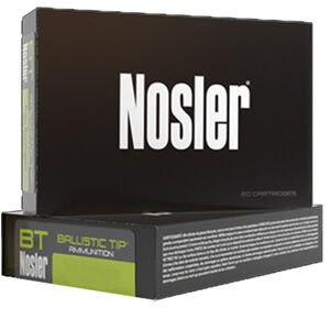 Nosler 6mm Creedmoor Ammunition 20 Rounds 95 Grain Ballistic Tip 3100 fps