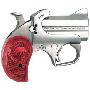 "Bond Arms Mama Bear Special Edition Derringer Handgun .357/38 3"" Barrel 2 Rounds Pink Wood Grip MAMA"