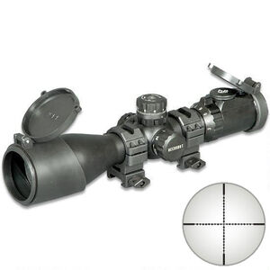 UTG Accushot SWAT Compact Rifle Scope 3-12x44 36 Color Mil-Dot Reticle Matte Black SCP3-UM312AOIEW