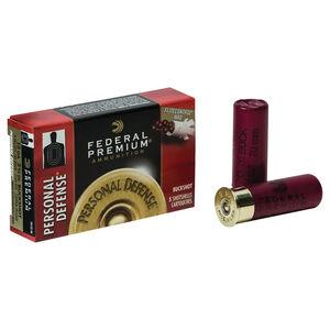 "Federal Personal Defense 12 Gauge Ammunition 5 Rounds 2-3/4"" 4 Buck Copper Plated 34 Pellets 1100fps"