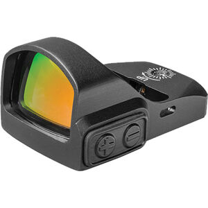 Truglo Tru-Tec Red Dot Sight, Aluminum, 3 MOA Reticle, Picatinny and Pistol Mount, Black Finish, CR2032