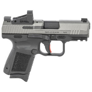 """Canik TP9 Elite Subcompact 9mm Luger Semi Auto Pistol 3.60"""" Barrel 12 Rounds Red Dot Sight Polymer Frame Gray Finish"""