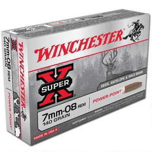 Winchester Super X 7mm-08 Remington Ammunition 200 Rounds JSP 140 Grains X708