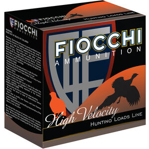 "Fiocchi High Velocity 12 Gauge Ammunition 2-3/4"" #6 Shot 1-1/4 oz Lead 1330fps"