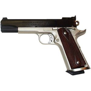 "Colt Special Combat Government Semi-Automatic Handgun .45 ACP 5"" Barrel 9 Rounds Silverback Grips Blue/Satin Nickel Finish"