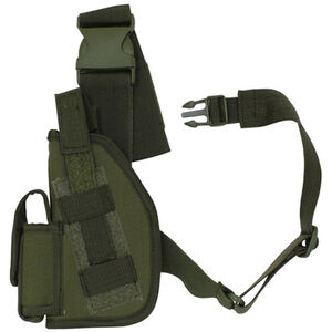 "Fox Outdoor SAS Tactical Leg Holster 4"" Left Hand Nylon Olive Drab Green 58-005"
